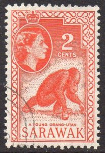 Sarawak 1957 2c Young Orang-Utan used