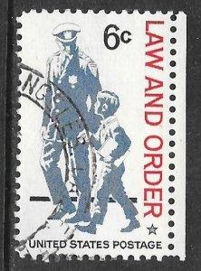 USA 1343: 6c Policeman and Boy, used, VF