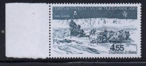 FRENCH SOUTHERN & ANTARCTIC TERR Sc C76 1983 dogsled airmail stamp mint NH