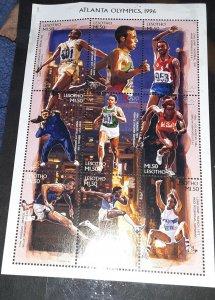 Lesotho 1052 Atlanta Olympics 1996 souvenir sheet