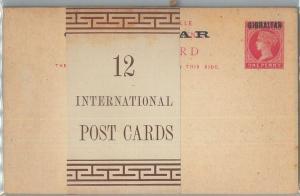 77288 - GIBRALTAR -  STATIONERY CARD  H & G # P12  block of 12 w/ ORIGINAL BAND!