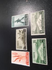 Italian East Africa sc 1,4,5,7,12 MNH+MH