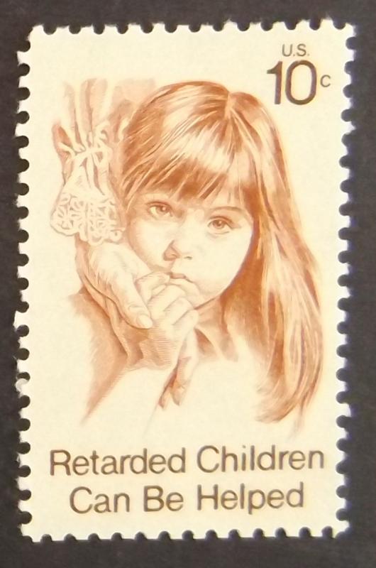 1549 10c Retarded Children Issue