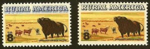1504 - Double Impression/Ghosting Error / EFO Rural America Angus Cattle MNH