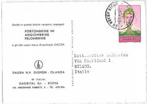 ETHNIC \ COSTUMES - ETHIOPIA -  POSTAL HISTORY: POSTCARD to Italy -  1961