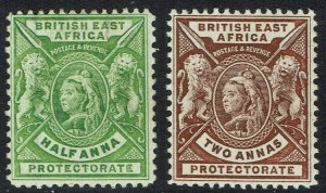 BRITISH EAST AFRICA 1896 QV LIONS 1/2A AND 2A