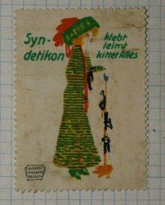 Syndetikon glue sticks German Brand Poster Stamp Ads