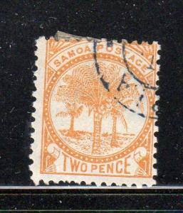 SAMOA #13   1895  2p  PALMS   F-VF  USED