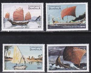 Dominica # 2053-2056, Sailing Ships, Mint NH, 1/2 Cat.
