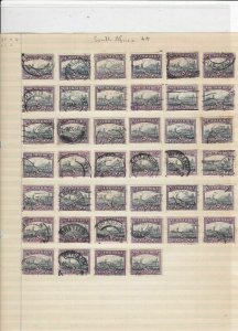 south africa shades cancels stamps ref 11168