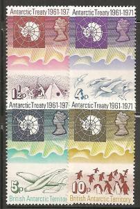 British Antarctic Territory SC 39-42 MNH