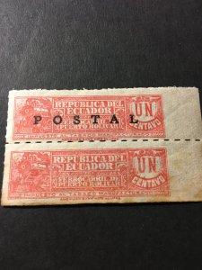 Ecuador sc 336 MH pair missing ovpt