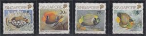 Singapore 1989 Sc 548-51 Fish MNH