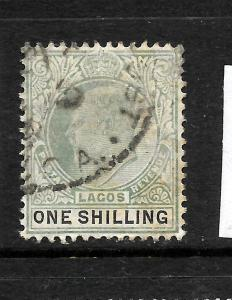 LAGOS  1904-06  1/-  KEVII  FU   SG 60