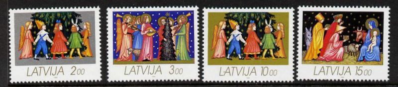 Latvia 336-9 MNH Christmas, Angels, Children, Music