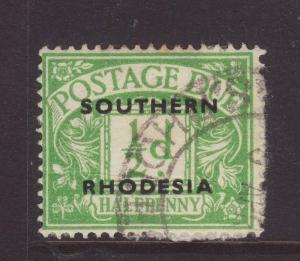 1951 Southern Rhodesia ½d Postage Due Fine Used SGD1