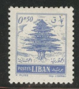 LEBANON Scott 308 MH* 1957 p13x13.5 cedar