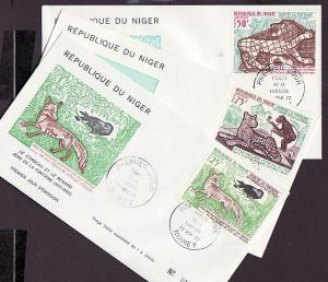 Niger, Scott cat. C200-C202. Fables issue on a First day cover.