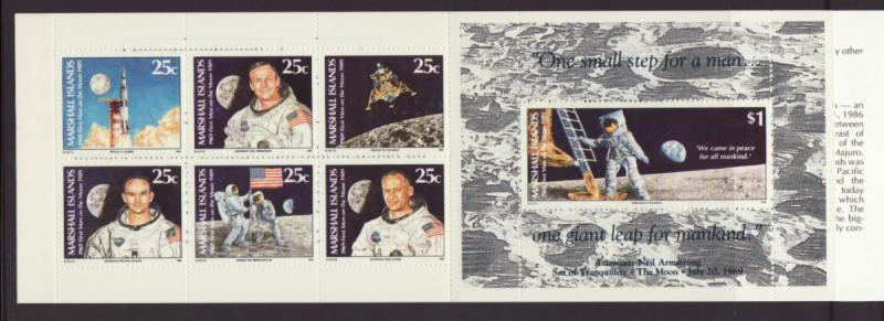 Marshall Islands 238a Moon Landing Anniversary Booklet MNH VF