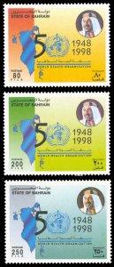 Bahrain 1998 Scott #508-510 Mint Never Hinged
