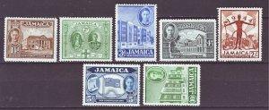 J22155 Jlstamps 1945 jamaica set mh #129-35 king