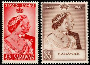 SARAWAK SG165-166, COMPLETE SET, NH MINT. Cat £48. RSW.