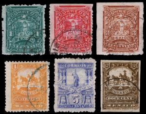 Mexico Scott 257-262 (1896-97) Used/Mint H G-F-VF, CV $95.00