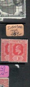 LEEWARD ISLANDS (P2308BB) KE  1D  SG 38-38A    MNH