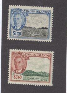 BRITISH VIRGIN ISLANDS # 111-112 VF-MNH KGV1 ISSUES CAT VALUE $21+
