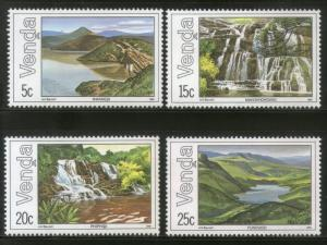 Venda 1981 Waterfalls Dam Lake Tourism Place Sc 44-47 MNH # 4323