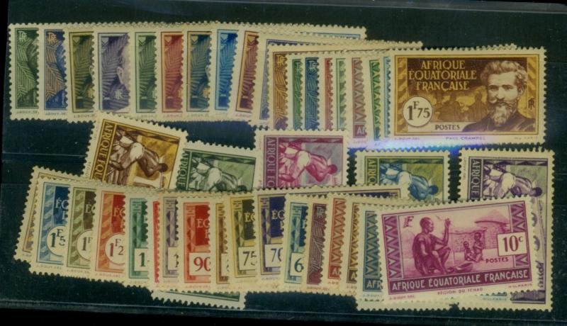French Equatorial Africa #33-72 41a MINT F-VF OG LH Cat$49.90