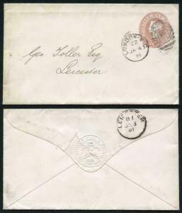 ES7 QV 1d Pink Envelope (31.7.80) Used London Duplex Cancel