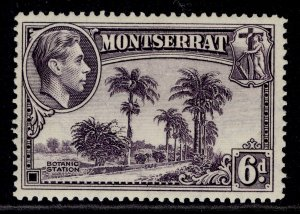 MONTSERRAT GVI SG107a, 6d violet, M MINT.