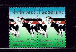 Netherlands 515 MNH 1974 Cows Pair