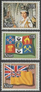 Niue # 221a - c Mint Never Hinged ~ Green Background ~ [9248]