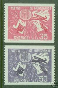 SWEDEN Scott 623-624 MNH** Freedom from Hunger coil stamps