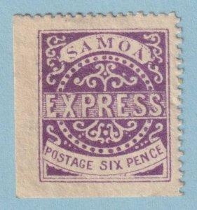 SAMOA 4 MINT HINGE REMNANT OG * NO FAULTS VERY FINE!