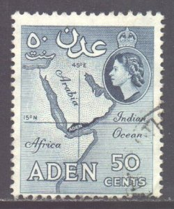 Aden Scott 71 - SG82, 1964 St Edward's Crown 50c used