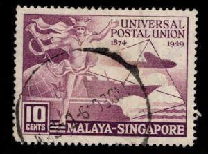 Singapore  Scott 23 Used UPU stamp