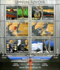 Faroe Islands 2009 #513 MNH. Origins of Faroe Islands, maps