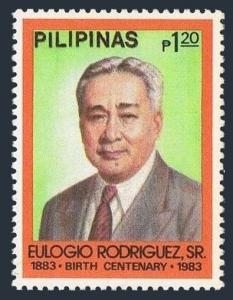Philippines 1625,MNH.Michel 1510. Senate President Eulogio Rodrigues,1983.