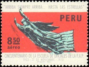 Peru #C383-C385, Complete Set(4), 1973, Aviation - Airplanes, Ships, Never Hi...