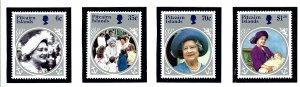 Pitcairn Is 253-56 MNH 1985 Queen Mother Birthday         (KA)