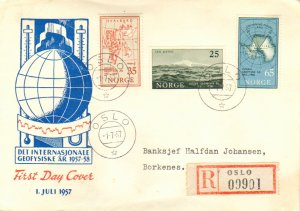 Norway Scott 355-357 Typewritten Address.