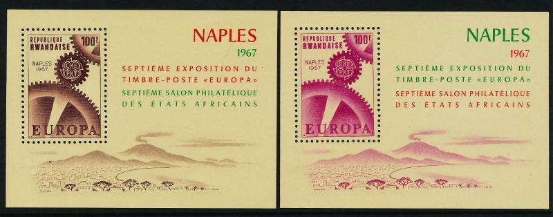 Rwanda 208-9 MNH EUROPA