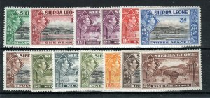 Sierra Leone 1938-44 values to 5s MLH/MH