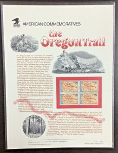 Commemorative Panel #409  Oregon Trail, 150th Anniversary #2747  29 c  1993