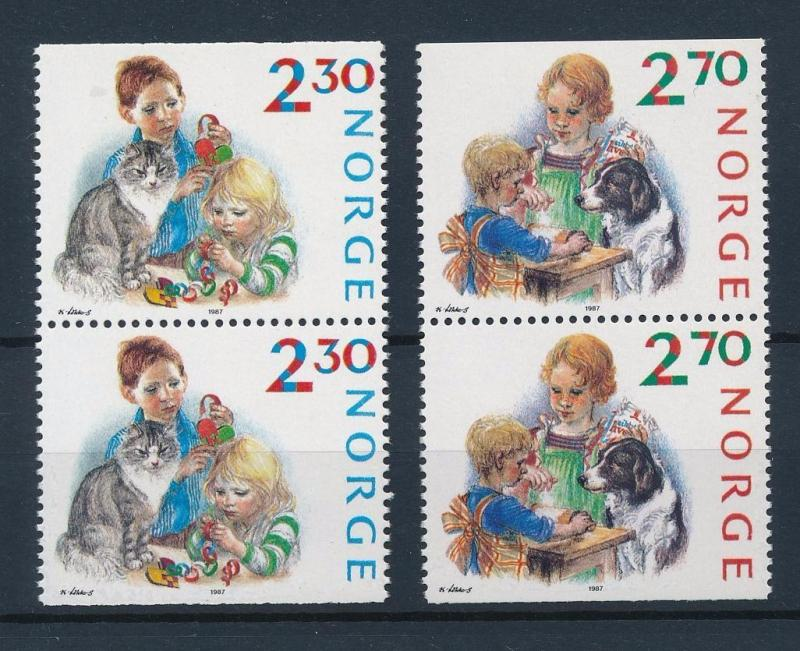 [38328] Norway 1987 Animals Pets Cats Dogs MNH