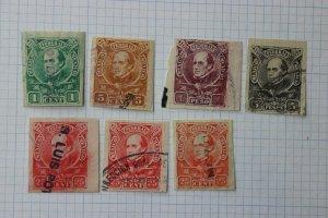 Mexico Revenue 1901 1902 FEDERAL CF138-CF142 1p 5p peso Contribution partial set