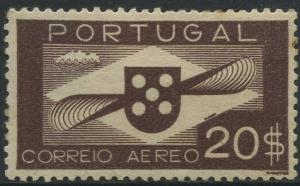 Portugal - Scott C9 - Air Mail Issue - 1936 - MVLH- Single 20$ Stamp